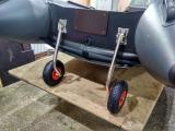 Установка транцевых колес на лодку ПВХ