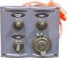 Панель бортового питания,3 клавиши и розетка